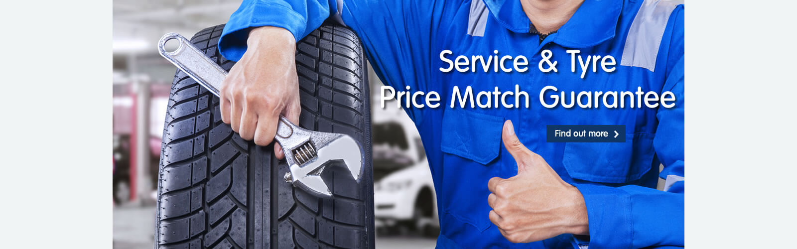 Service and Tyre price match guarantee